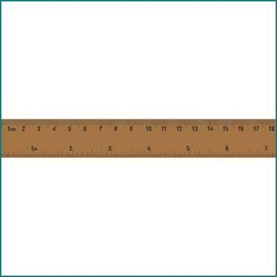 Kaiser printed tape ruler
