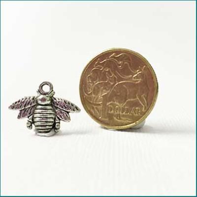 bee metal charm