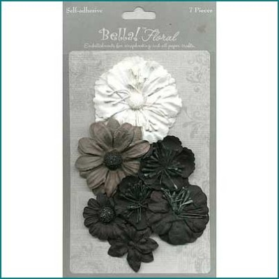 Bella paper flowers black