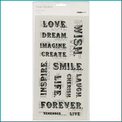Delicate words stickers