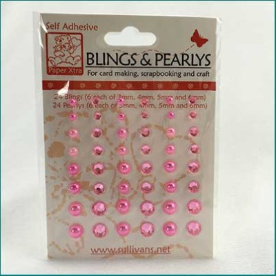 pink bling and pearls