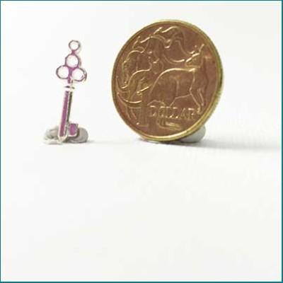 small key metal charm silver