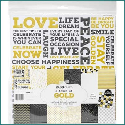 touch of gold 12x12 paper pack