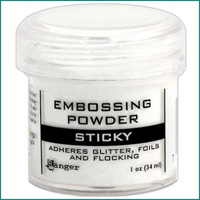 Ranger sticky embossing powder