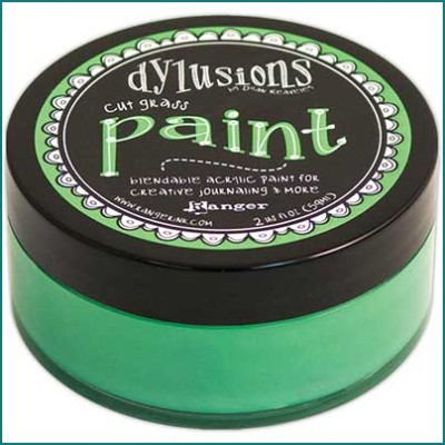 Dylusions Paint cut grass green