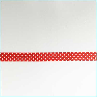 Printed Tape Kaiser Red And White Dots