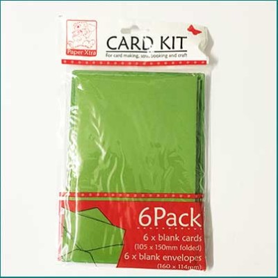 card pack with envelopes green