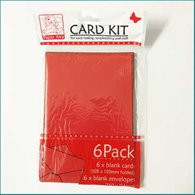 card pack with envelopes red