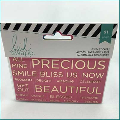 heidi swapp PL clear stickers pink