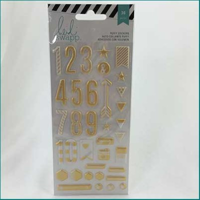 heidi swapp puffy numbers gold