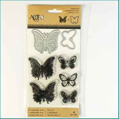 Art C Stamp and Cut Butterflies
