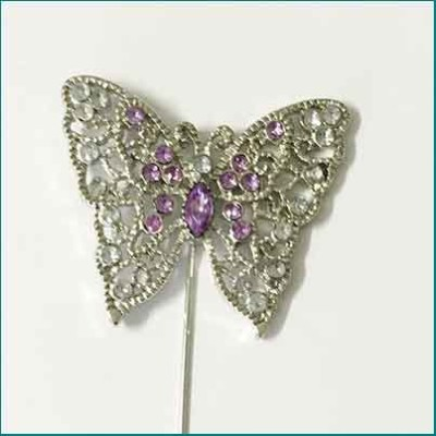 Butterfly Pin Purple