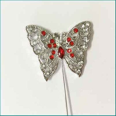 Butterfly Pin Red