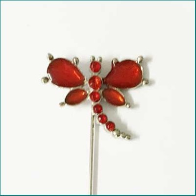 Dragonfly Pin Red
