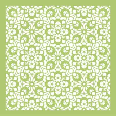 Kaiser Floral Lace Template - Scrapbooking Delights