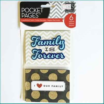 MAMBI Pocket Pages Family Embellished Cards