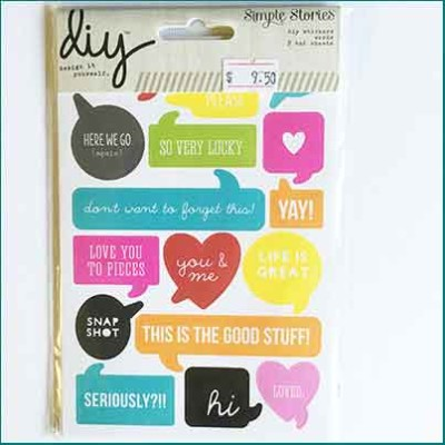 Simple Stories DIY Word Stickers
