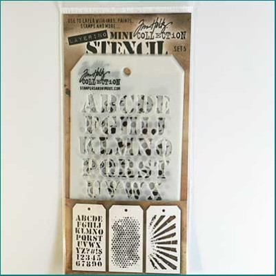 Tim Holtz Mini Stencils Set 5