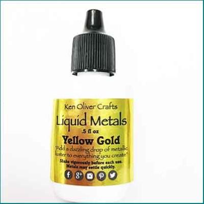 liquid metals yelow gold