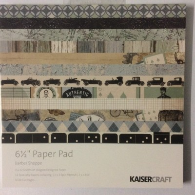Barber Shoppe 6x6 paper pad