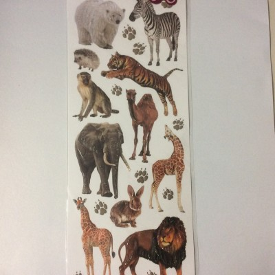 Embossed Sticker animal 1