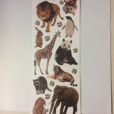 Embossed Sticker animal 2