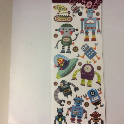 Embossed Sticker robot 1