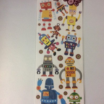 Embossed sticker robot2
