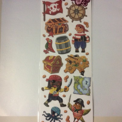 Embossed Sticker pirate 1