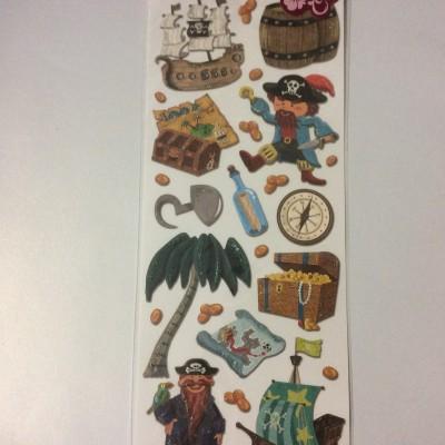 Embossed Sticker pirate 2