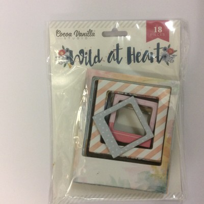 Cocoa Vanilla Wild at Heart chipboard frames