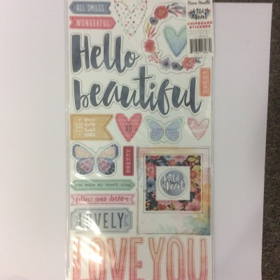 Cocoa Vanilla Wild at Heart chipboard stickers