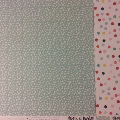 Cocoa Vanilla Wild at Heart double dot paper